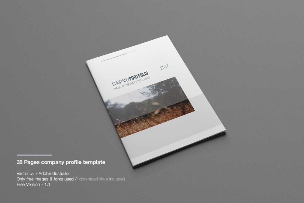 Free PSD TriFold BiFold Brochures Templates For Promoting - Company profile brochure template