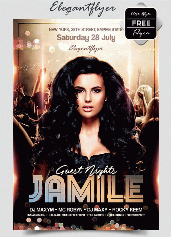 guest nights free flyer psd template facebook cover