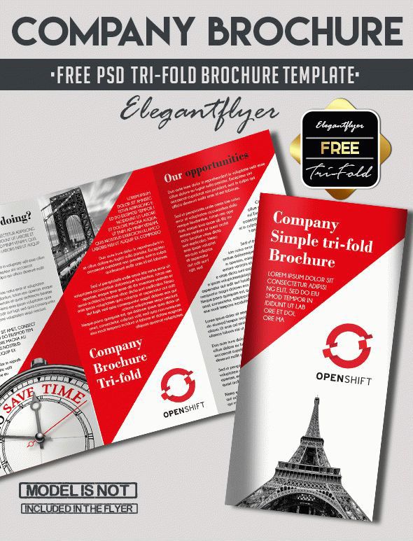 Free PSD TriFold BiFold Brochures Templates For Promoting - Tri fold brochure photoshop template