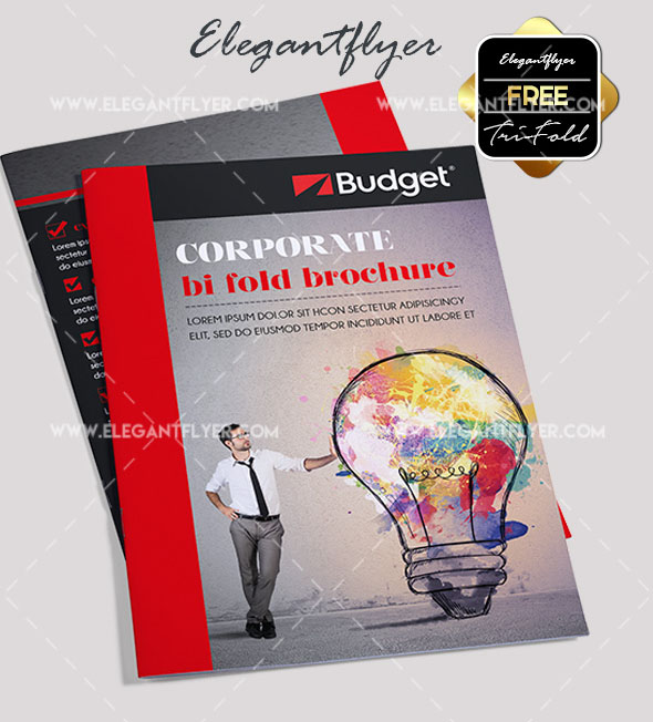 corporate free psd bi fold brochure template