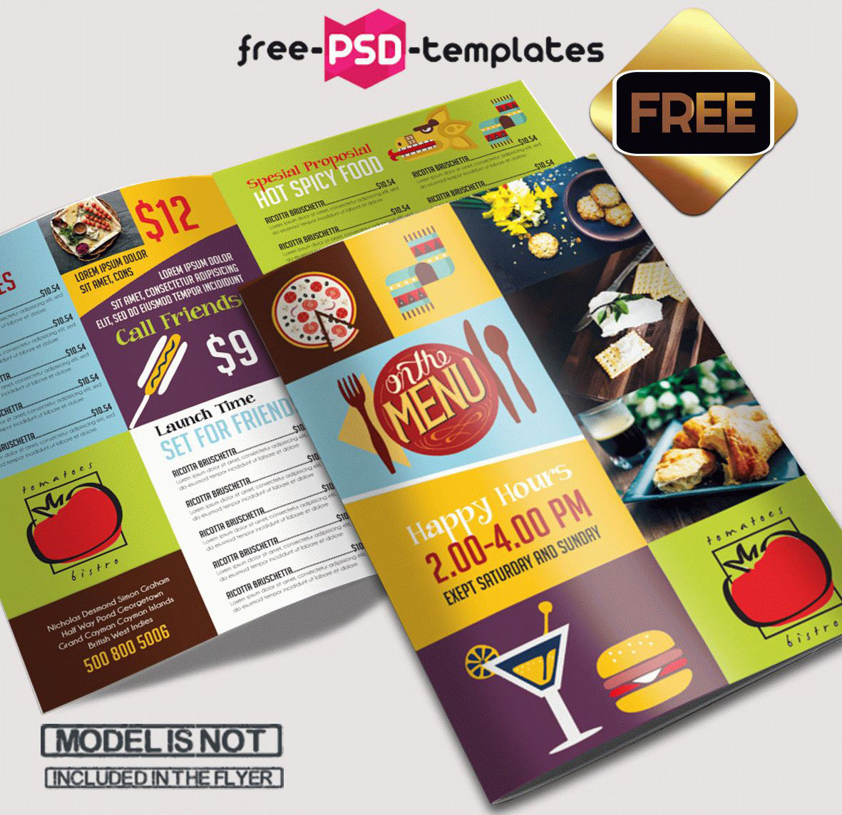 69 premium and free psd tri fold bi fold brochures for Free psd brochure template
