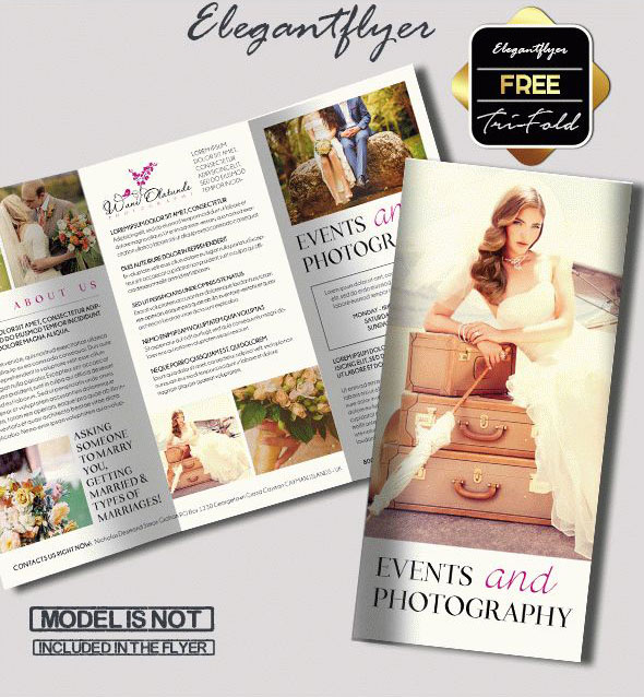 69 premium and free psd tri fold bi fold brochures for Photography brochure templates free