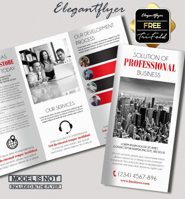 Free PSD TriFold BiFold Brochures Templates For Promoting - Free tri fold brochure templates
