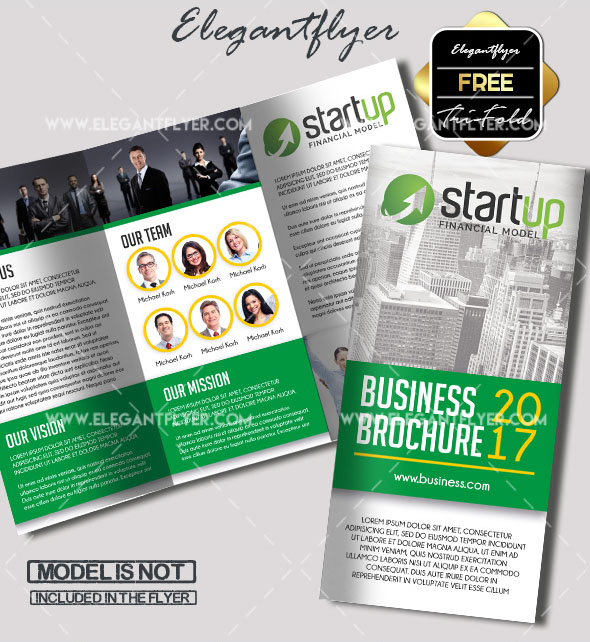 Free PSD TriFold BiFold Brochures Templates For Promoting - Psd brochure template