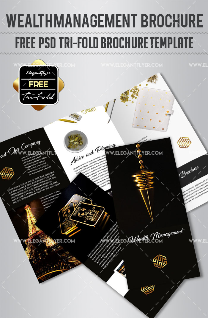 69premium And Free Psd Tri Fold Bi Fold Brochures Templates For