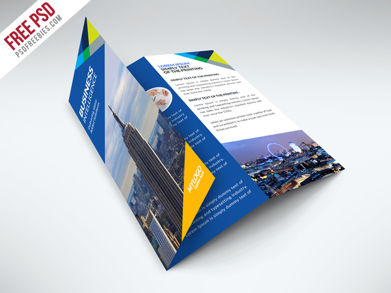 69 premium and free psd tri fold bi fold brochures for Company brochure template free