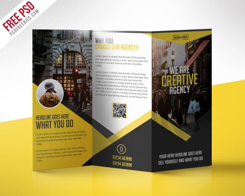 Multipurpose Trifold Business Brochure Free Psd