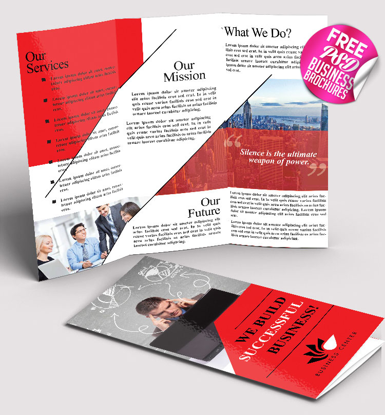 69 premium and free psd tri fold bi fold brochures for Psd template brochure