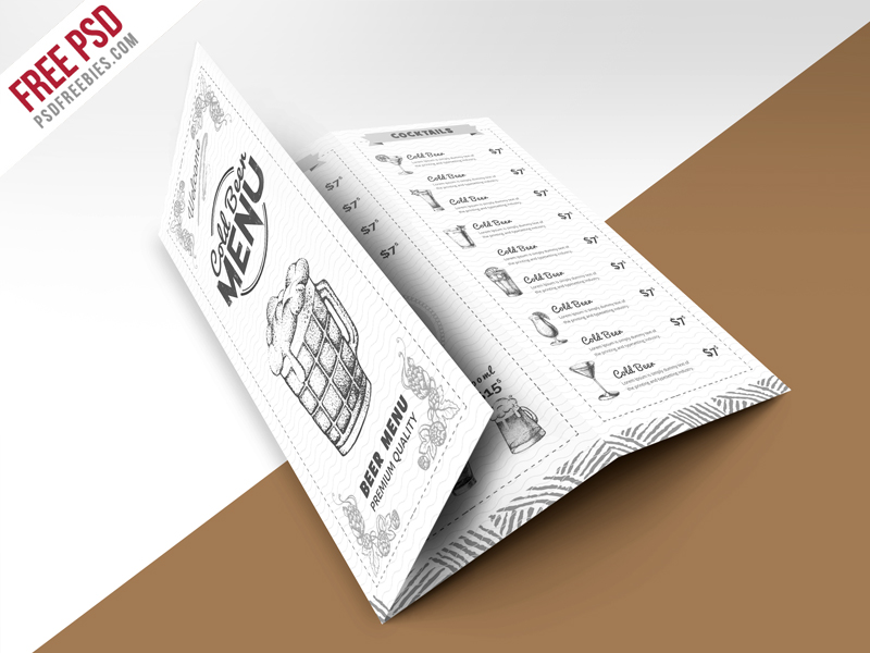 69 premium and free psd tri fold bi fold brochures for Trifold brochure template psd