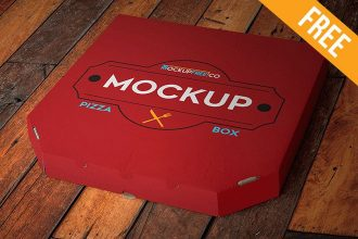 Pizza Box – Free PSD Mockup