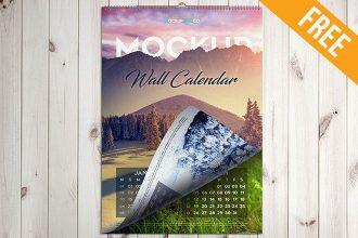 Wall Calendar – Free PSD Mockup