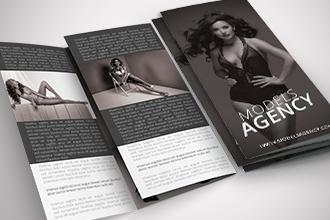 Free Models Agency Tri-Fold Brochure