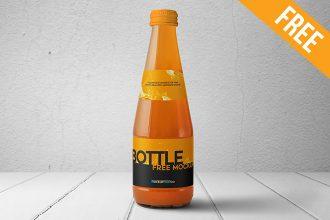 Juice Glass Bottle – 2 Free PSD Mockups