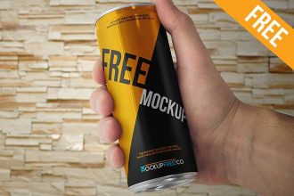 Energy Drink Can – 2 Free PSD Mockup