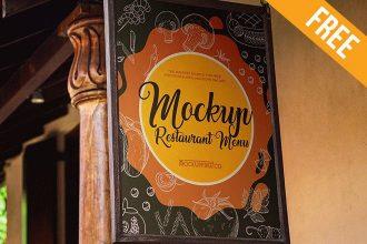 Restaurant Menu – 2 Free PSD Mockups