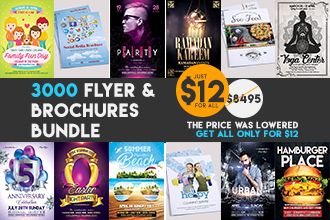 3000 Premium PSD Flyers & Brochures Bundle just for $12!