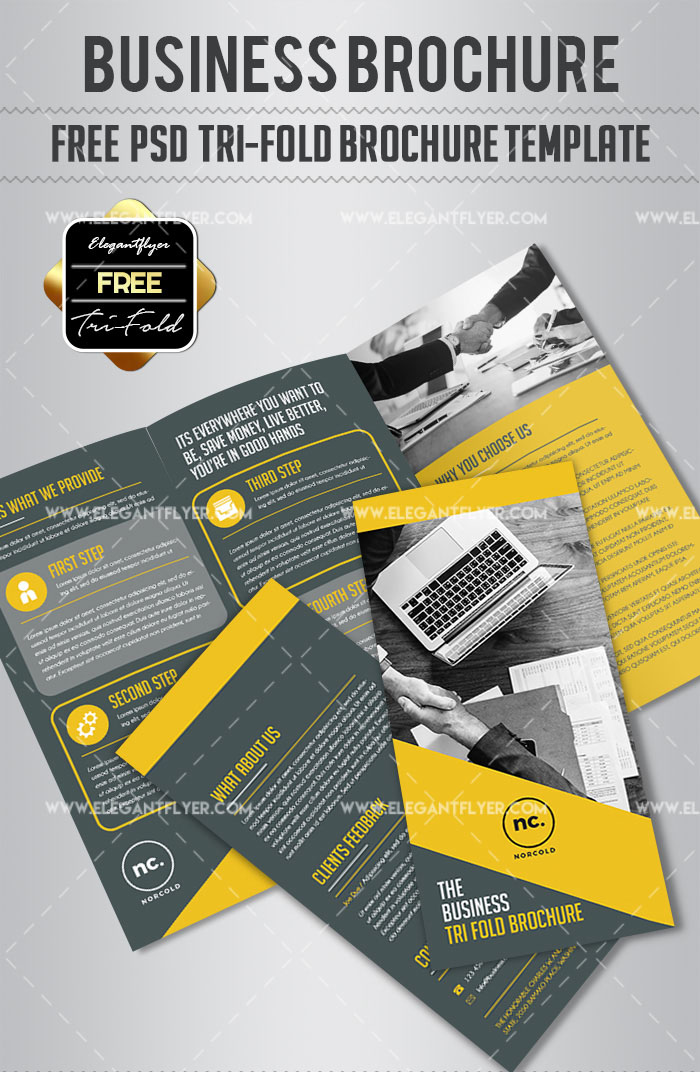 Business Free Tri Fold Brochure PSD Template Download