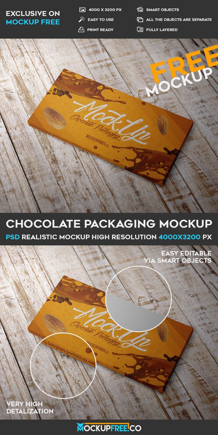 Chocolate Packaging Free Psd Mockup Free Psd Templates