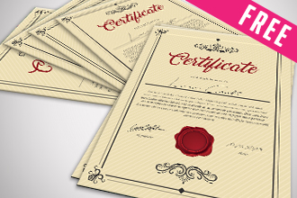 free psd multipurpose certificates bundle free psd templates