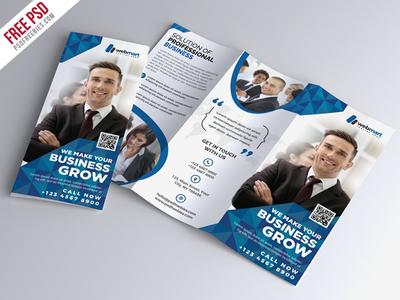 corporate tri fold brochure free psd