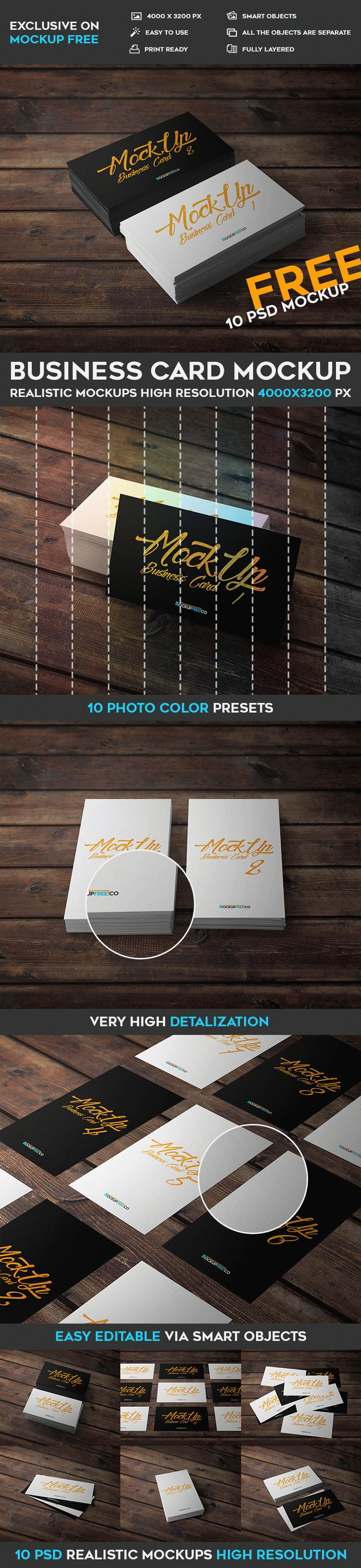 Business card 10 free psd mockups free psd templates the mock up is fully layered and well organized you are free to download this psd mockup template and modify it the way you wish reheart Images