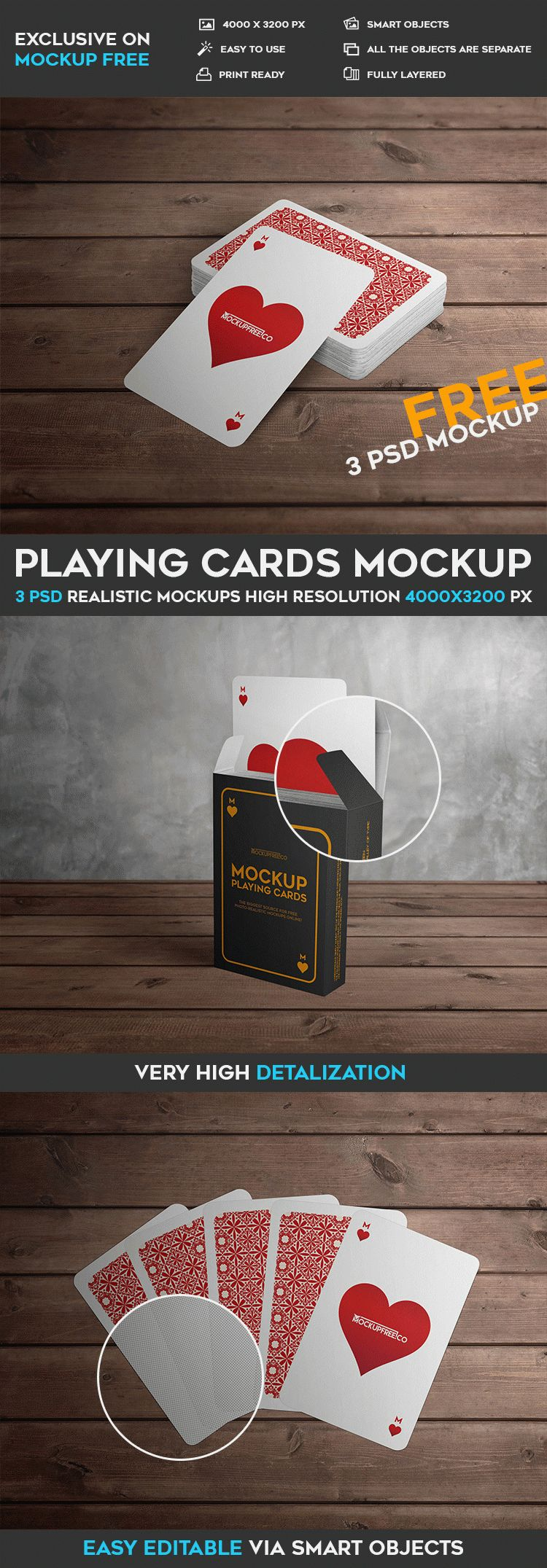 playing cards 3 free psd mockups free psd templates. Black Bedroom Furniture Sets. Home Design Ideas