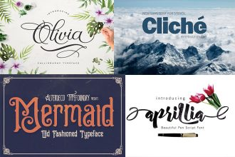 25 Free Amazing Fonts for creating professional design!