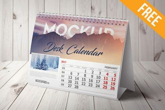 Wall And Desk Calendar Mockups Set – 5 Free PSD Mockups
