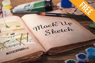 Artist Sketch Book – 6 Free PSD Mockups