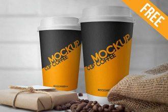 Cup Coffee – Free PSD Mockup