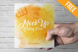 Greeting Card – 3 Free PSD Mockups