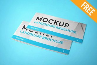 Landscape Brochure – 2 Free PSD Mockups