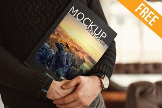 Magazine Huge Pack – 8 Free PSD Mockups