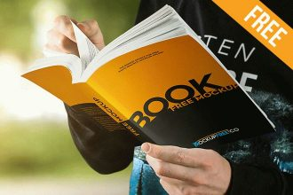 Paperback Book – 10 Free PSD Mockups