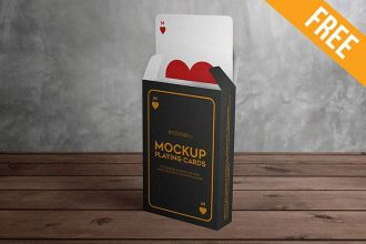 Playing Cards – 3 Free PSD Mockups