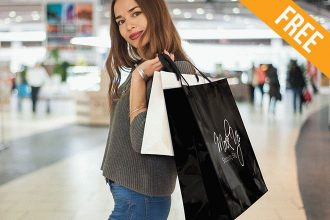 Shopping Bag – 9 Free PSD Mockups