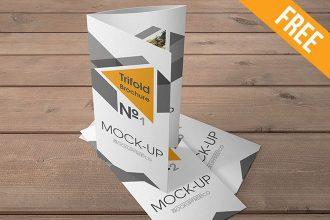 Trifold Brochure – 10 Free PSD Mockups