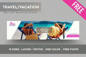 15 Free Banner templates for Travel agency (PSD)