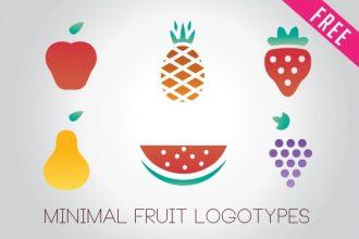 FREE Minimal Fruit Logos