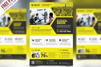 Free PSD: Corporate Business Promotional flyer PSD Template
