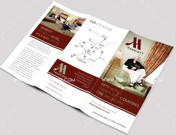 Free PSD Business Flyers Brochures Templates Free PSD - Hotel brochure template