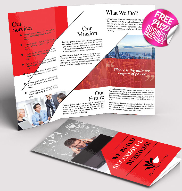 50 free premium psd business flyers brochures for Brochure design templates free psd