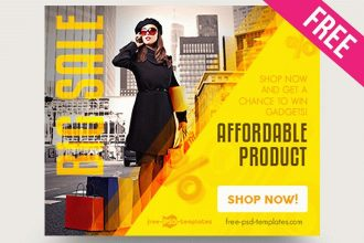 15 Free Online Shopping Banner in PSD