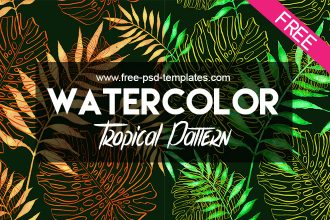 FREE Tropical Pattern IN PSD