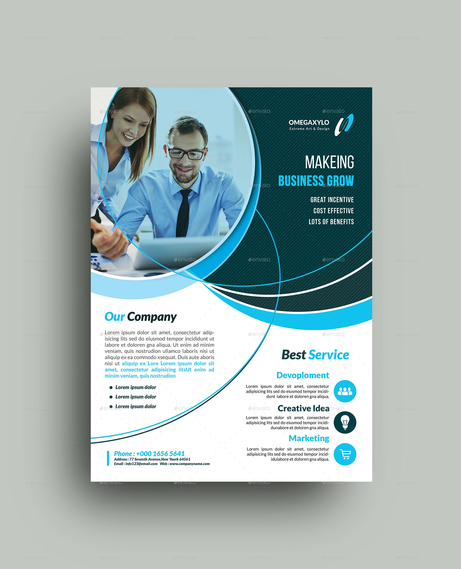50 free premium psd business flyers brochures templates free business flyer flashek Choice Image