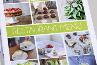 Restaurant Menu Bi Fold Brochure Template