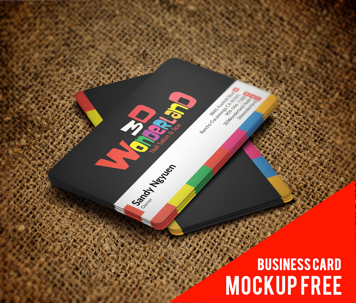 Free business card mockup psd free psd templates download reheart Images