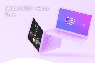 Globe UI Kit – Heros Free PSD