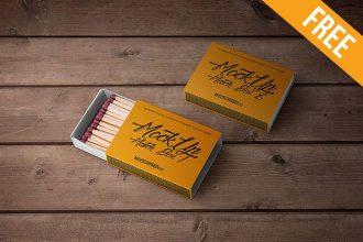 Match Box – 2 Free PSD Mockups
