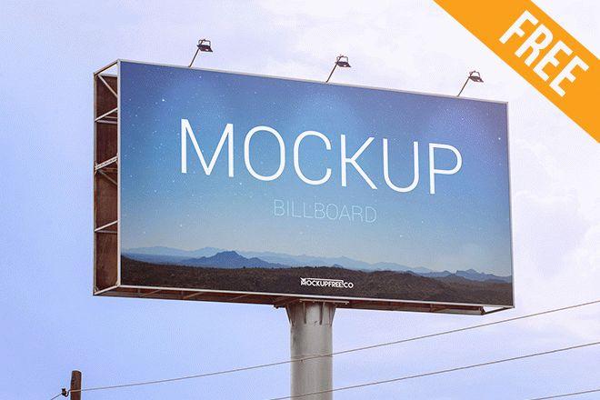 billboard free psd mockup free psd templates